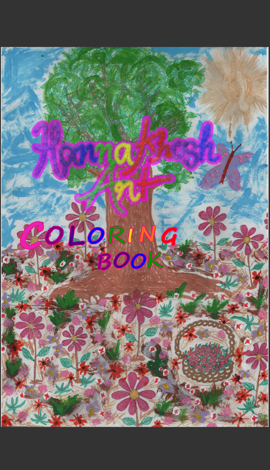 """HannaKhash Art Coloring Book, """"Happy Times In Nature"""". RM 10.50."""